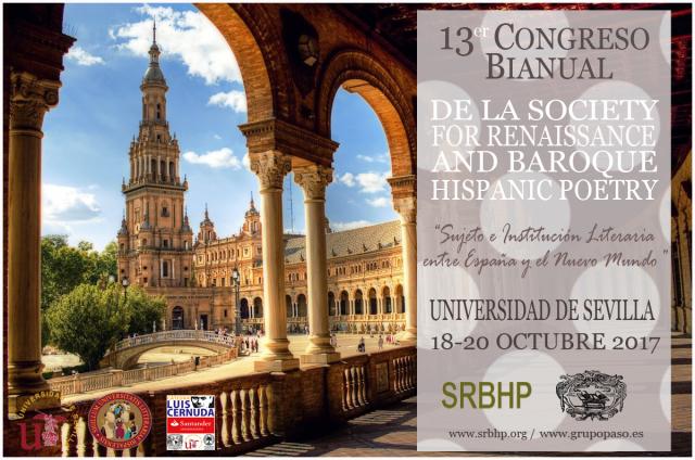 XIII Congreso Bienal SRBHP «Sujeto e institución literaria entre España y el Nuevo Mundo»