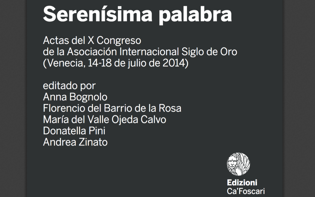 Disponible una versión impresa de las Actas del X Congreso de AISO a partir de septiembre de 2019