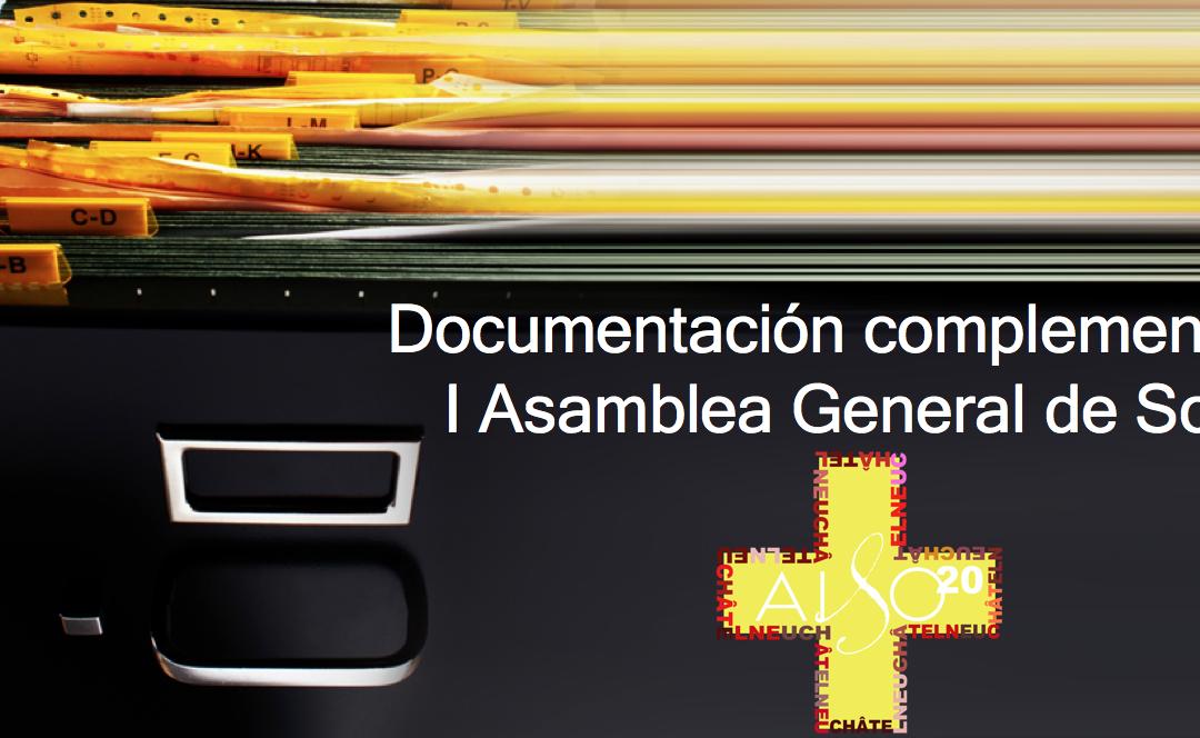 Documentación complementaria I Asamblea